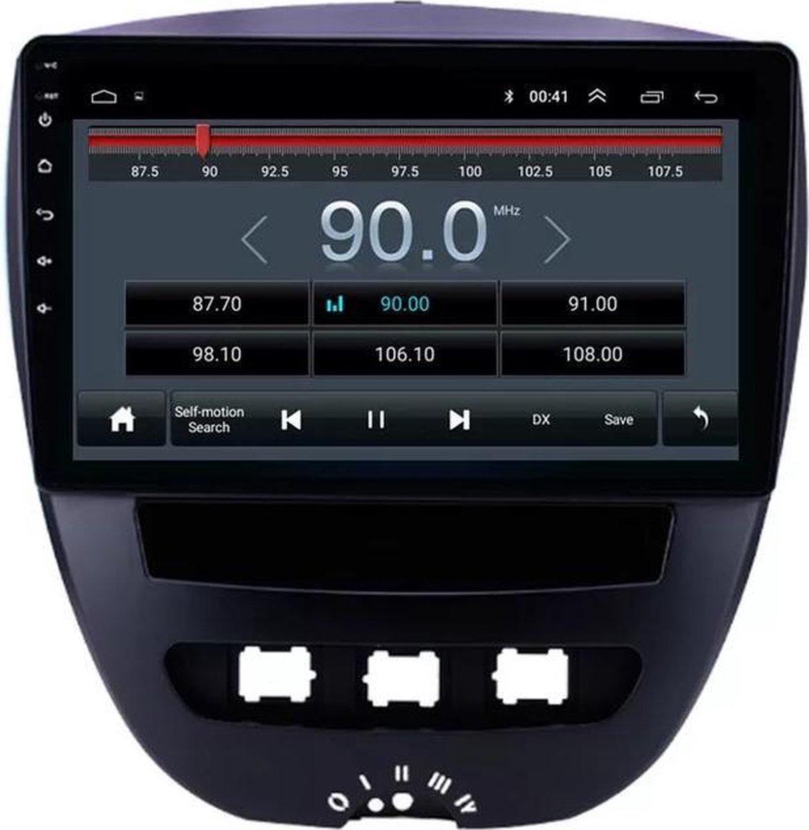 Peugeot 107 2005-2014 Android 10 Navigatie en Multimediasysteem