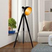 Industrieel Design Tripod Vloerlamp - Staande Retro Statief Lamp - E27 Fitting - Driepoot Spotlight - In Hoogte Verstelbaar - 108-152CM