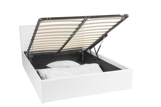 Ottoman bed frame met 611 liter opbergruimte - 140x190 - Wit