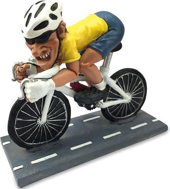 Beroepen beeldje wielrenner drager gele trui racefiets Warren Stratford Tour de France