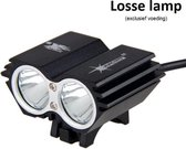 SolarStorm X2 MTB/race LED koplamp 2x CREE T6 LED klein maar EXTREEM veel licht - USB aansluiting - (losse lamp zonder voeding)