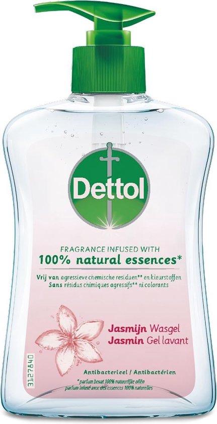 Dettol Handzeep - Jasmijn - Jasmijn geur verrijkt met 100% natuurlijke oliën - 250ML x2