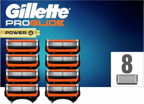 Gillette Fusion5 ProGlide Power Scheermesjes Voor Mannen - 8 Navulmesjes - Rood