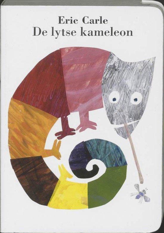 Cover van het boek 'De lytse kameleon' van Louw Dijkstra en Eric Carle