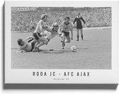 Roda JC - AFC Ajax '82 - Walljar - Wanddecoratie - Poster ingelijst