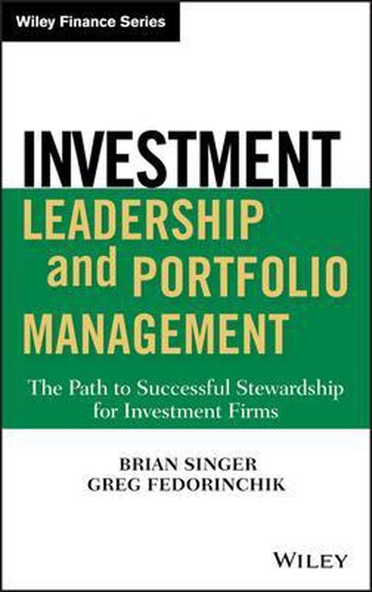 Boek cover Investment Leadership and Portfolio Management van Brian D. Singer (Hardcover)