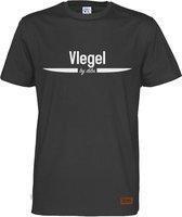 Vlegel T-Shirt Zwart | Maat M