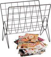 Decopatent® Tijdschriftenhouder Vrijstaand - Krantenbak - Tijdschriftenrek - Lectuurbak - Tijdschriftenbak - Metaal draad - Zwart