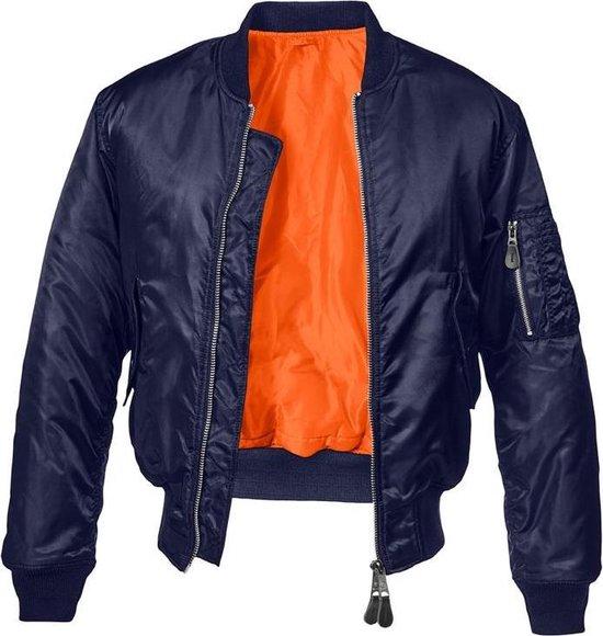 Urban Classics Bomber jacket -2XL- MA1 Blauw