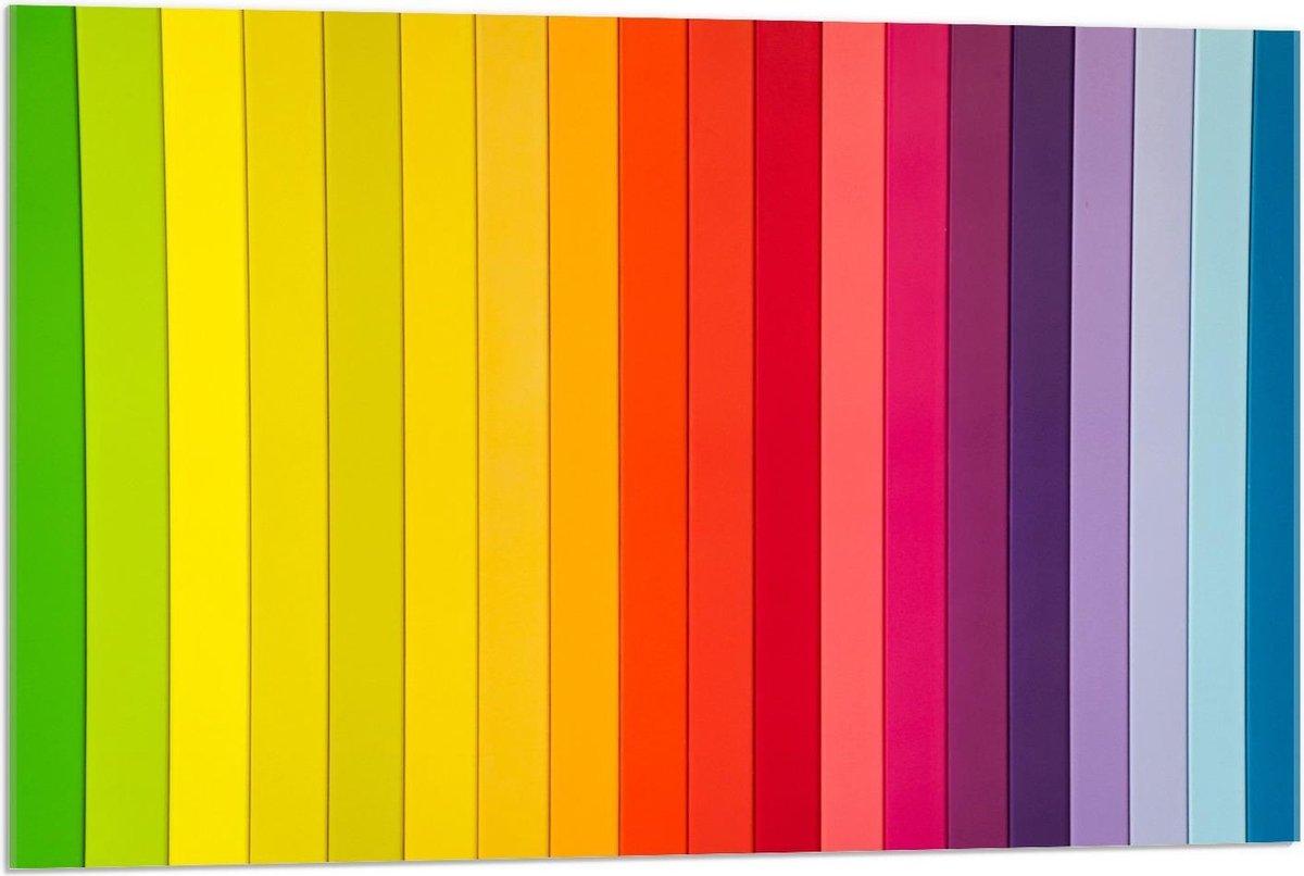 Plexiglas - Regenboogstrepen  - 90x60cm Foto op Plexiglas (Met Ophangsysteem)