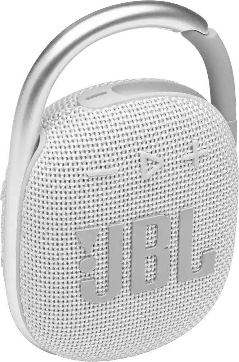 JBL Clip 4 Wit - Draagbare Bluetooth Mini Speaker