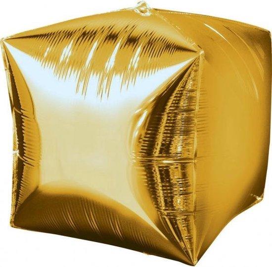 Amscan Folieballon Vierkant 38 X 38 Cm Goud