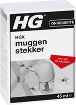 HGX muggenstekker - 45 ml - navulbaar - effectief anti-muggen middel