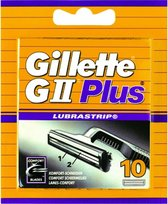 Gillette GII Plus Wegwerpscheermesjes Mannen - 10 stuks