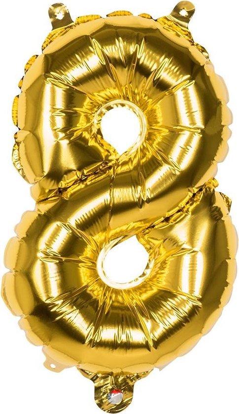 Boland Cijferballon 8 Folie 66 Cm Goud