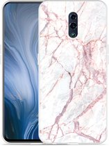 Oppo Reno Hoesje White Pink Marble