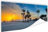 Venice beach zonsondergang Poster 60x40 cm - Foto print op Poster (wanddecoratie woonkamer / slaapkamer) / Steden Poster