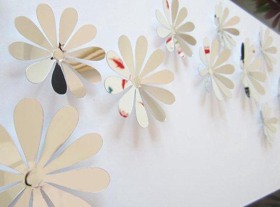 Bol Com 3d Bloemen Stickers Muurstickers Spiegel 12 Stuks Wanddecoratie