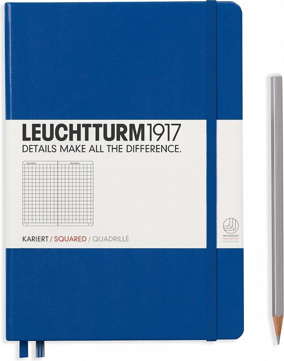 Leuchtturm1917 Notitieboek Royal Blue - Medium - Geruit