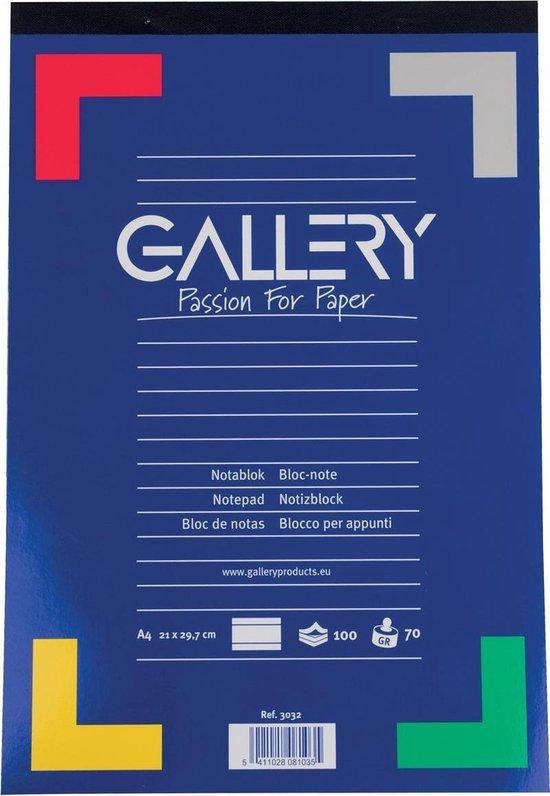 Afbeelding van Gallery schrijfblok formaat 21 x 297 cm (A4) gelijnd blok van 100 vel