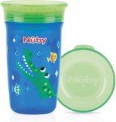 Nûby - Oefenbeker - 360° Wonder cup - 300ml - Blauw - 6m+