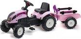 Rijdend | Tractoren & Accessoires - Tractor Pink + Acc. Set 2/5