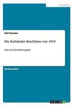 Die Karlsbader Beschlusse von 1819