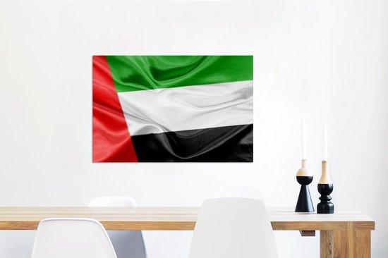 De vlag van de Verenigde Arabische Emiraten Aluminium 90x60 cm - Foto print op Aluminium (metaal wanddecoratie)
