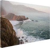 Kliffen Amerika Canvas 180x120 cm - Foto print op Canvas schilderij (Wanddecoratie woonkamer / slaapkamer) XXL / Groot formaat!