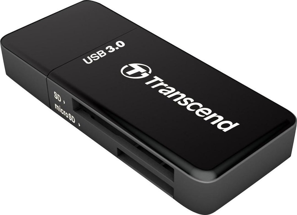 Transcend - Kaartlezer (SD, microSD, SDHC, microSDHC, SDXC, microSDXC, SDHC UHS-I, SDXC UHS-I) - USB