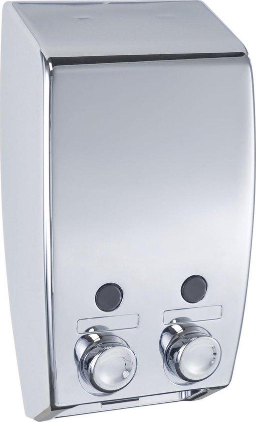Wenko Varese Zeepdispenser - Wandmontage - 2 x 450 ml - Chroom