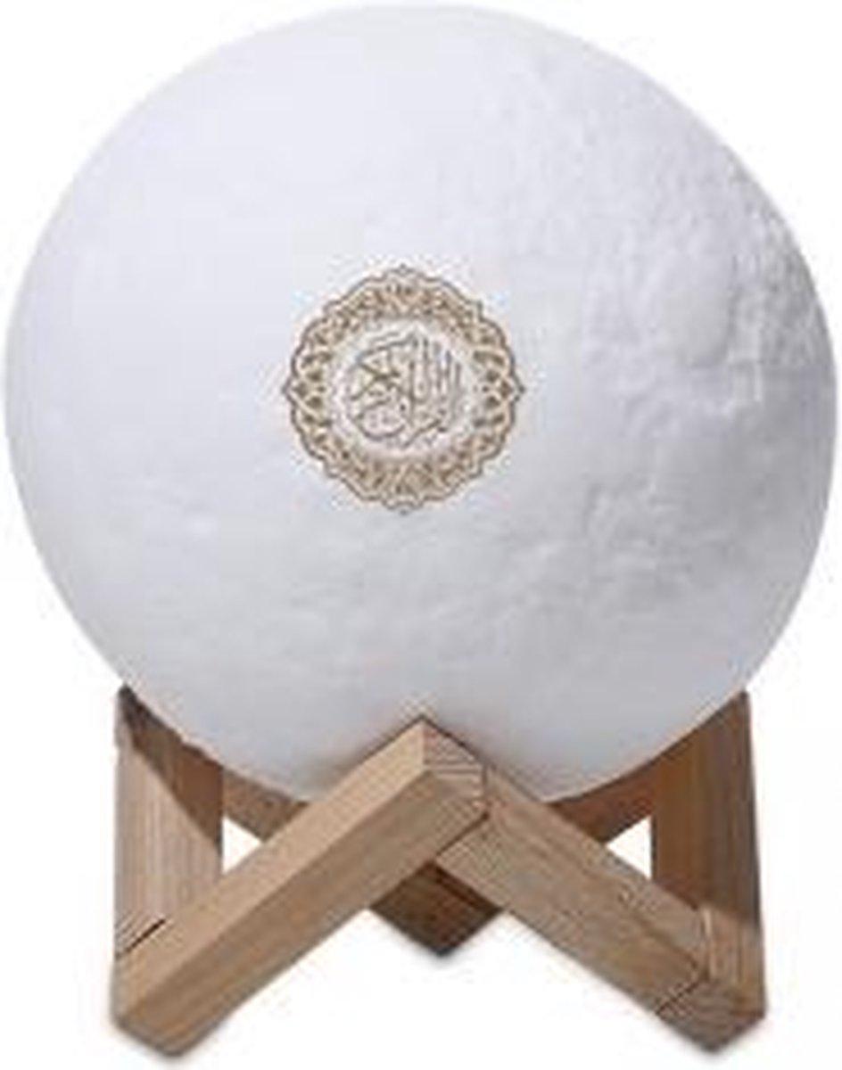 Equantu Quran Smart Touch Moon Smart table lamp Wit Bluetooth - Koran speaker - Koran lamp - Quran speaker - Quran lamp