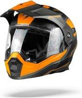 Scorpion ADX-1 Tucson Matt Black Orange Systeemhelm - Motorhelm - Maat M
