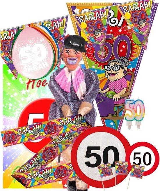 Wonderbaarlijk bol.com | Sarah 50 jaar leeftijd themafeest pakket XL versiering OU-01