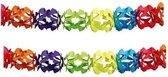 2x Regenboog kleuren slingers 6 meter - Kinderfeestje/verjaardag slingers decoratie -  Feest versiering