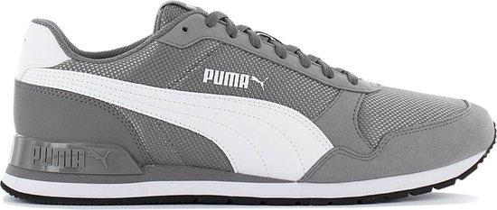 Puma ST Runner V2 Mesh 366811-06 Heren Sneaker Sportschoenen Schoenen Grijs  - Maat EU 44.5 UK 10