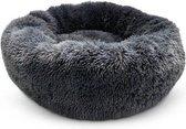 Snoozle Donut Hondenmand en Kattenmand - Superzacht en Luxe - Wasbaar - Fluffy - Hondenkussen - 70cm - Grijs