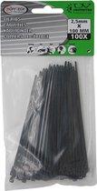 Höfftech - Kabelbinder - Tie ribs - Tie Wraps - Zwart - 2,5x100mm - 100 stuks