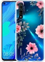 Huawei Nova 5T Hoesje Flowers