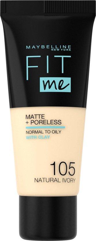 Maybelline Fit me Matte & Poreless Foundation - 105 Natural Ivory