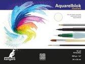Aquarelblok 16 vel 300 gram 32 x 24 cm - Aquarel papier - Aquarelblokken/tekenblokken - Hobby/schildermateriaal