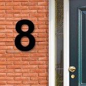 Huisnummer Acryl zwart, cijfer 8, Hoogte 16cm | Huisnummer plexiglas | Huisnummer modern | Huisnummer kopen | Topkwaliteit | Gratis verzending!