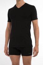 Claesen's Heren 2-pack V-neck t-shirt - Black- Maat S