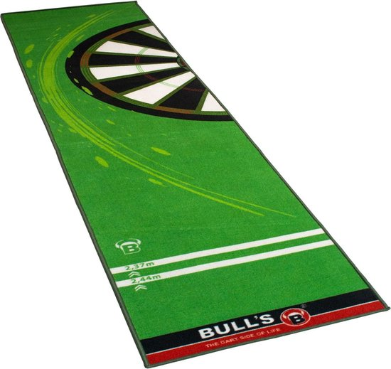 Bull's Dartmat '120' Groen 280 Cm