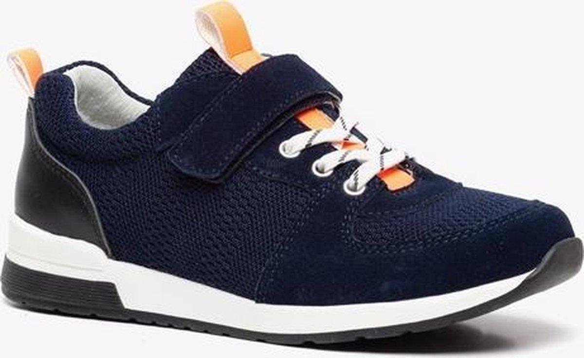 TwoDay sueden jongens sneakers - Blauw - Maat 34