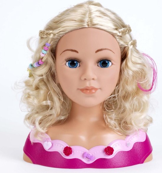 Kapkop met Make-Up en Haar-Accessoires 33 cm