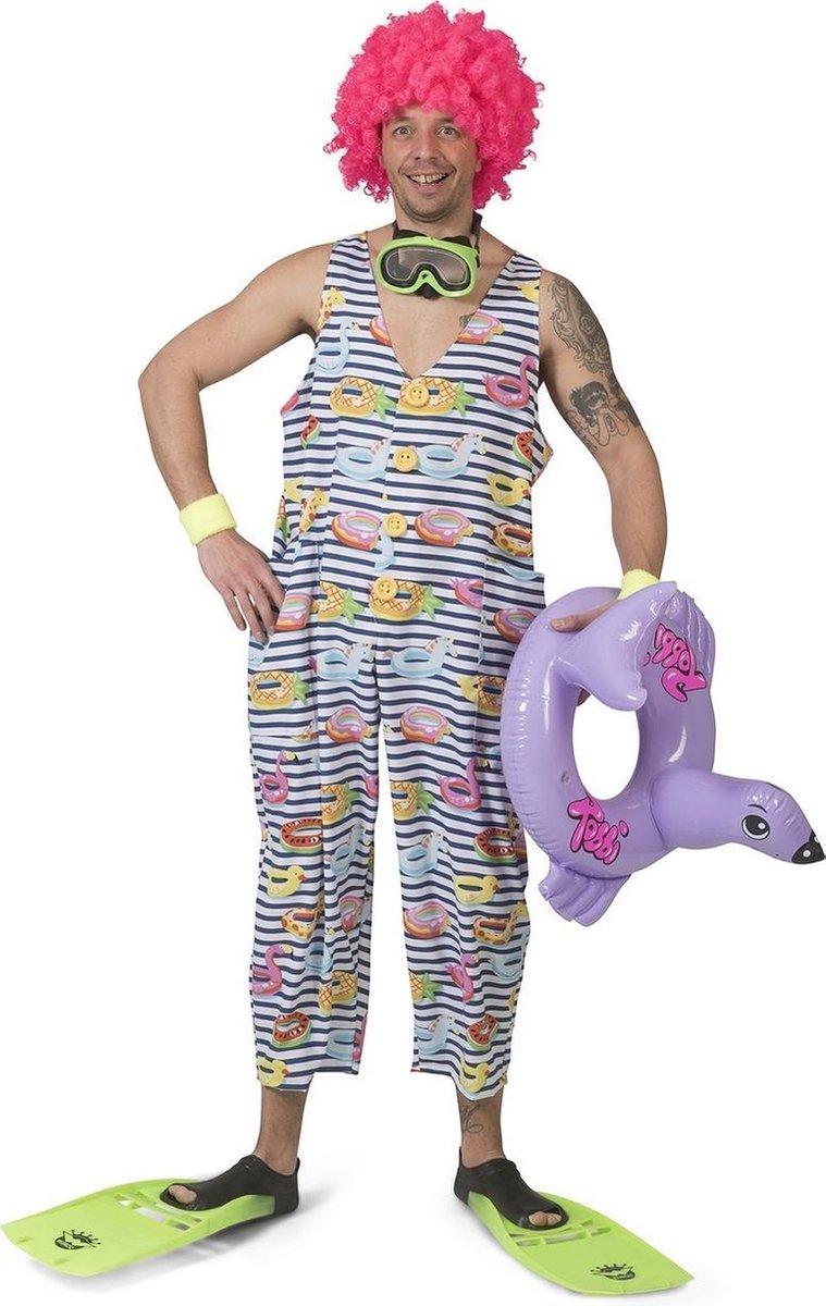 Grote Baby Kostuum   Vrolijk Zwempak Zwembanden   Man   Maat 44-46   Carnaval kostuum   Verkleedkleding