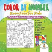 Color by Number Exercises for Kids - Math Books 1st Grade - Children's Math Books