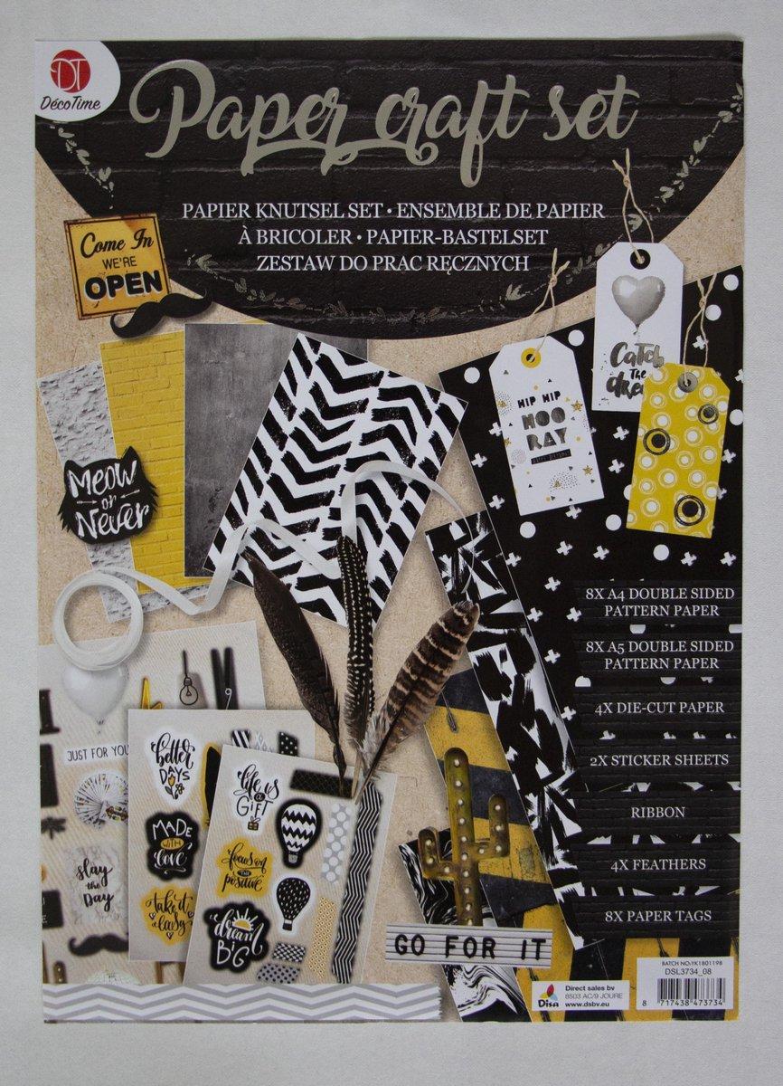 Verwonderlijk bol.com | Paper craft set - Papier knutselset - Knutselen voor BY-89