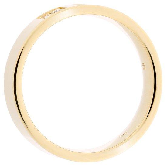 Orphelia RD-B1266/45/DJ/54 - Ring - geelgoudkleurige 18 Karaat - Diamant 0.14 ct